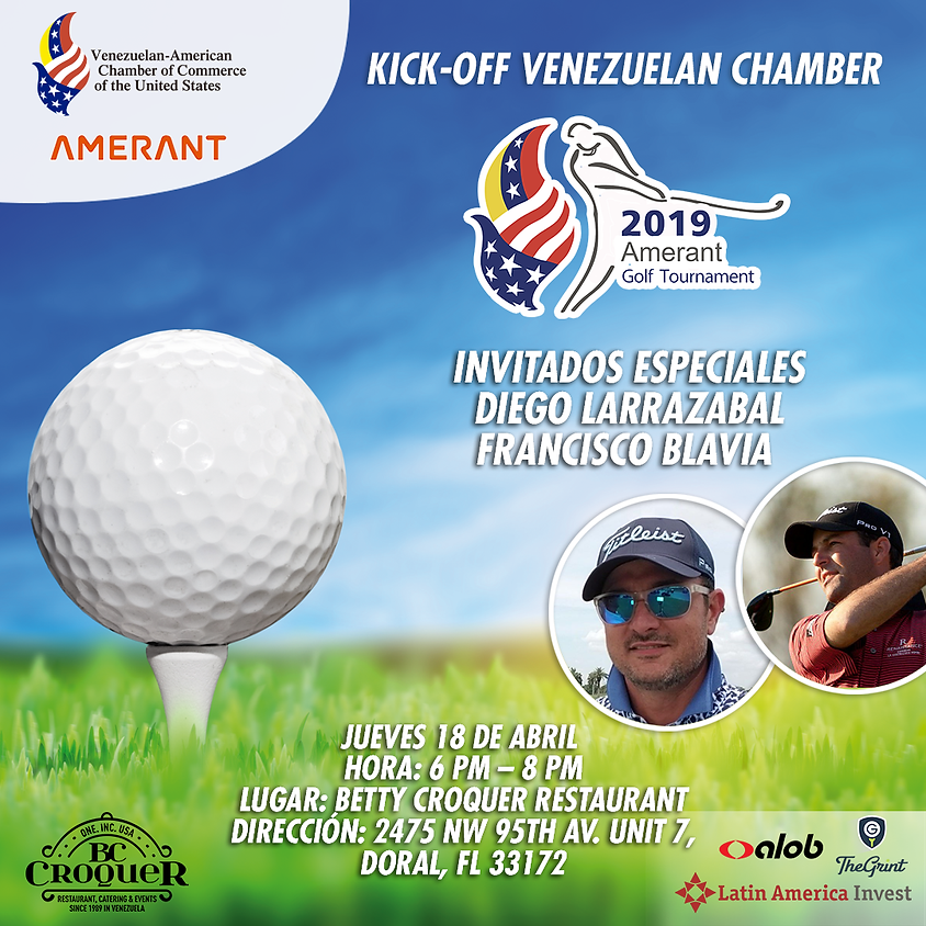 Kick-Off Venezuelan Chamber 2019 Amerant Golf Tournament