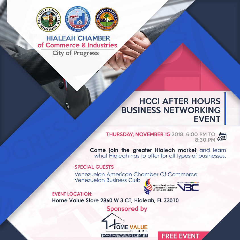HCCI After Hours Networking Event