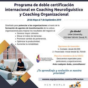 Primera doble certificación en coaching neurolingüístico y coaching organizacional se dictará a part