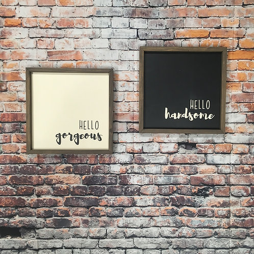 Hello Gorgeous & Hello Handsome (Set of 2)