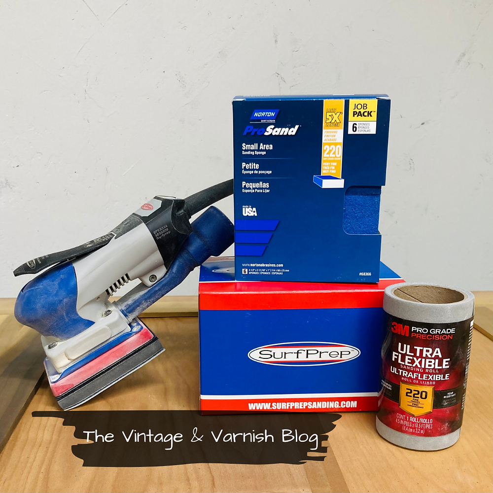 Surfprep-Sander-Electric-Ray-3x4-Prepping-Furniture-Before-Painting-How-to-sand-furniture-the-vintage-and-varnish-blog