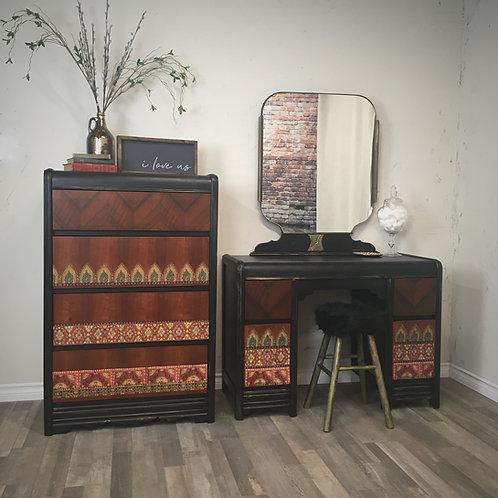 Bohemian Inspired Vanity & Dresser Set