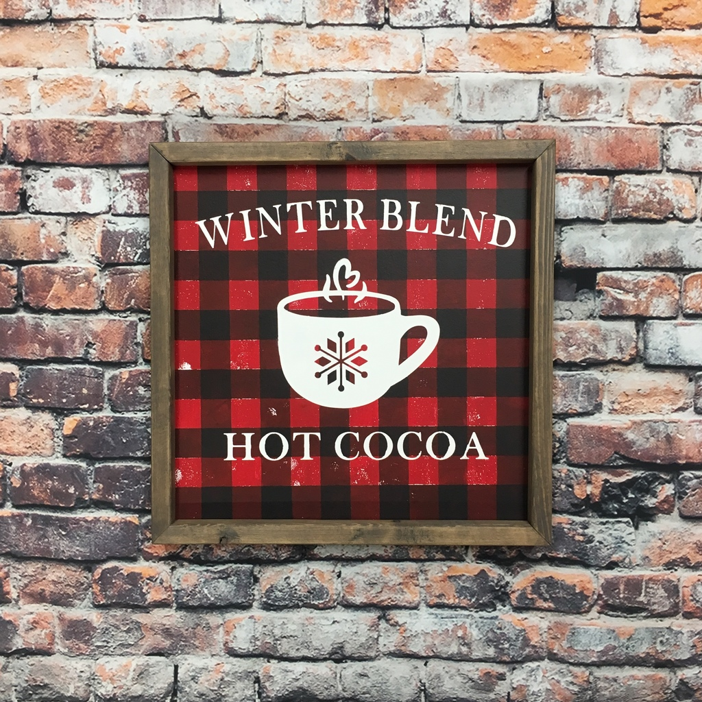 Buffalo Plaid Hot Cocoa