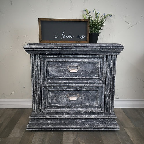 Faux Concrete Nightstands - Pair