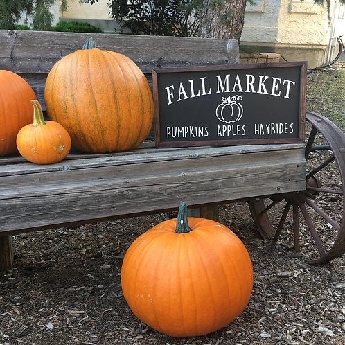Fall Market Farmhouse Sign