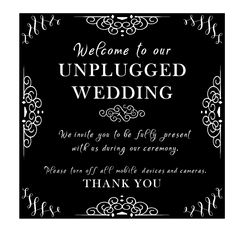 Welcome Sign - Unplugged Wedding