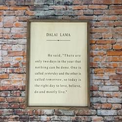 Dalai Lama Book Quote Sign