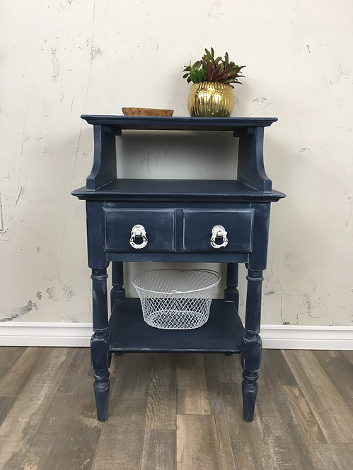 Washed Denim Look Side or Entry Table