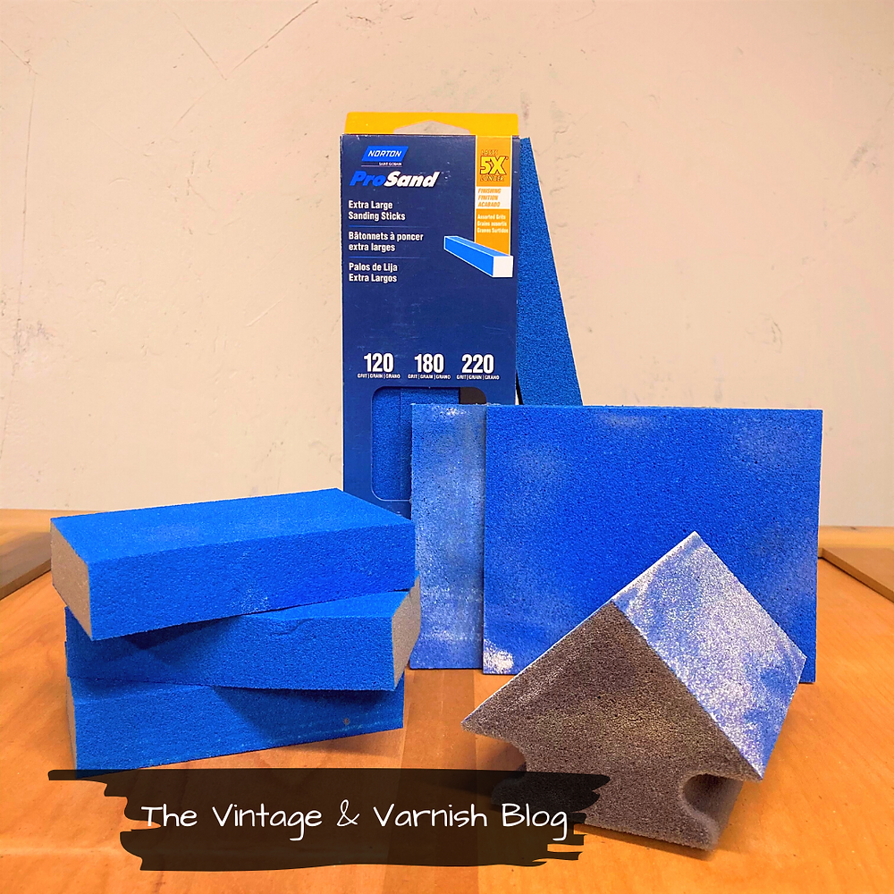Foam-Sanding-sponges-sanding-blocks-sanding-tools-before-and-after-furniture-tutorials-vintage-and-varnish-blog