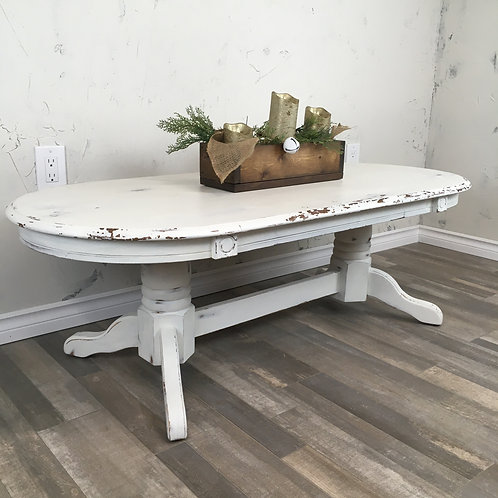 Chippy White Farmhouse Coffee Table