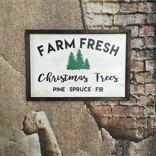 Farm Fresh Christmas Trees Farmhouse Sign