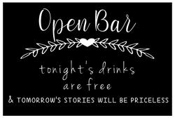 Bar Sign - Open Bar