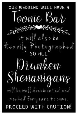 Bar Sign - Toonie Bar