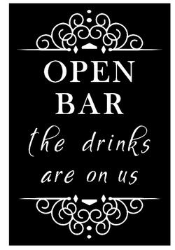 Open Bar - Drinks on Us