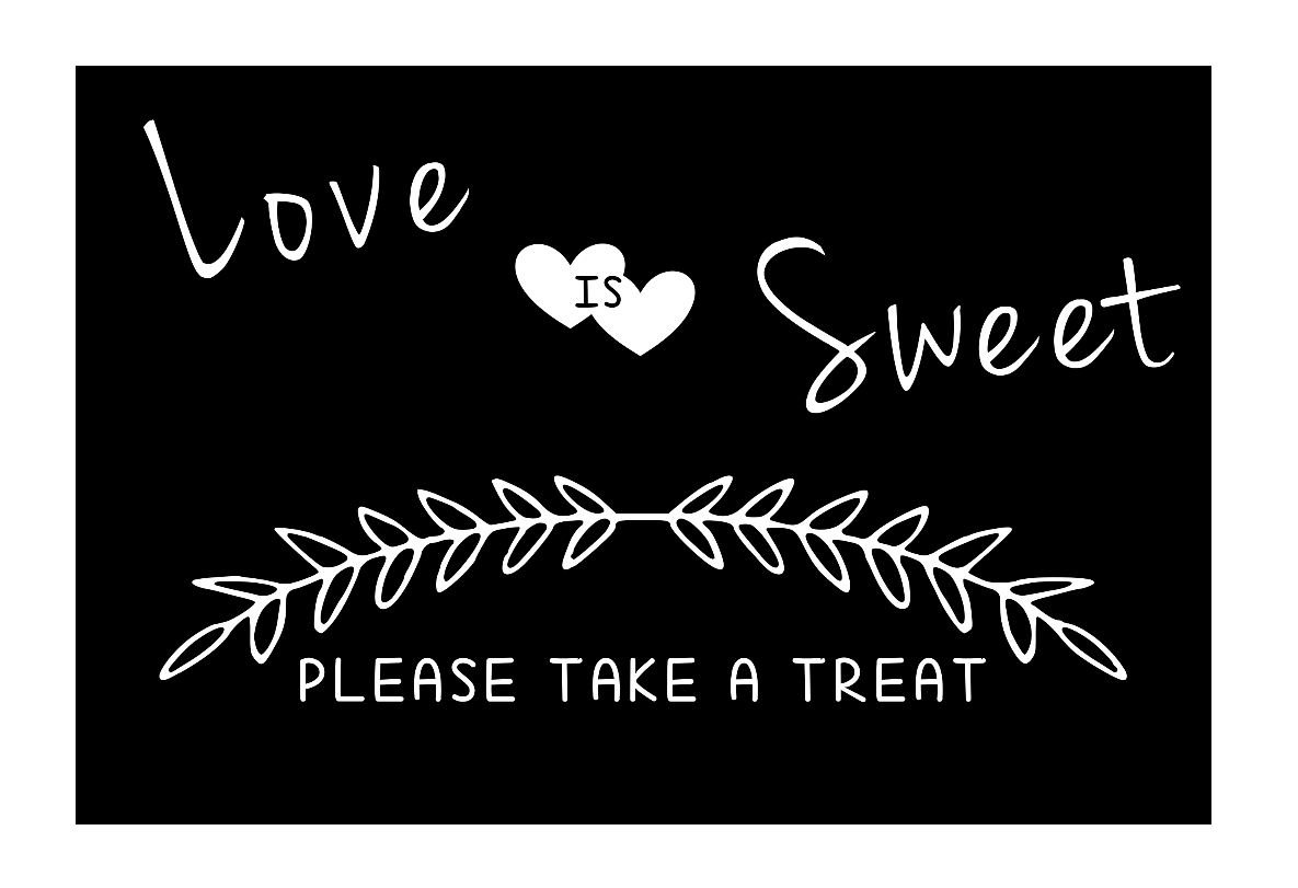 Candy Bar - Love is Sweet