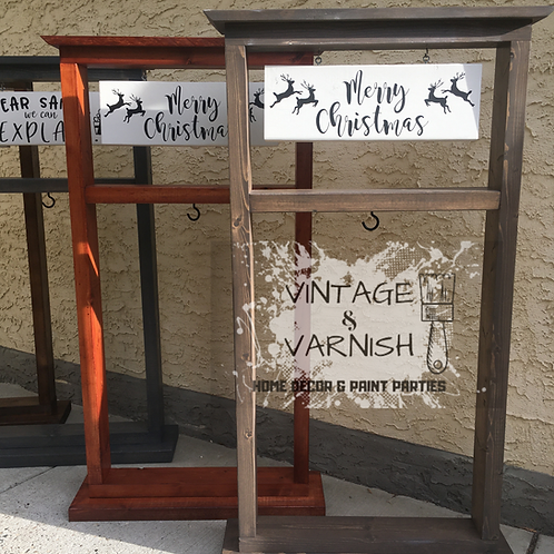 Hanging Planter Stand with Interchangeable Sign