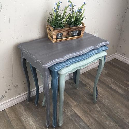 Grey & Blue Nesting Tables