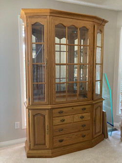 China Cabinet with Glass Shelves