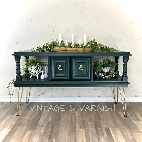 Credenza with Gold Pin Legs