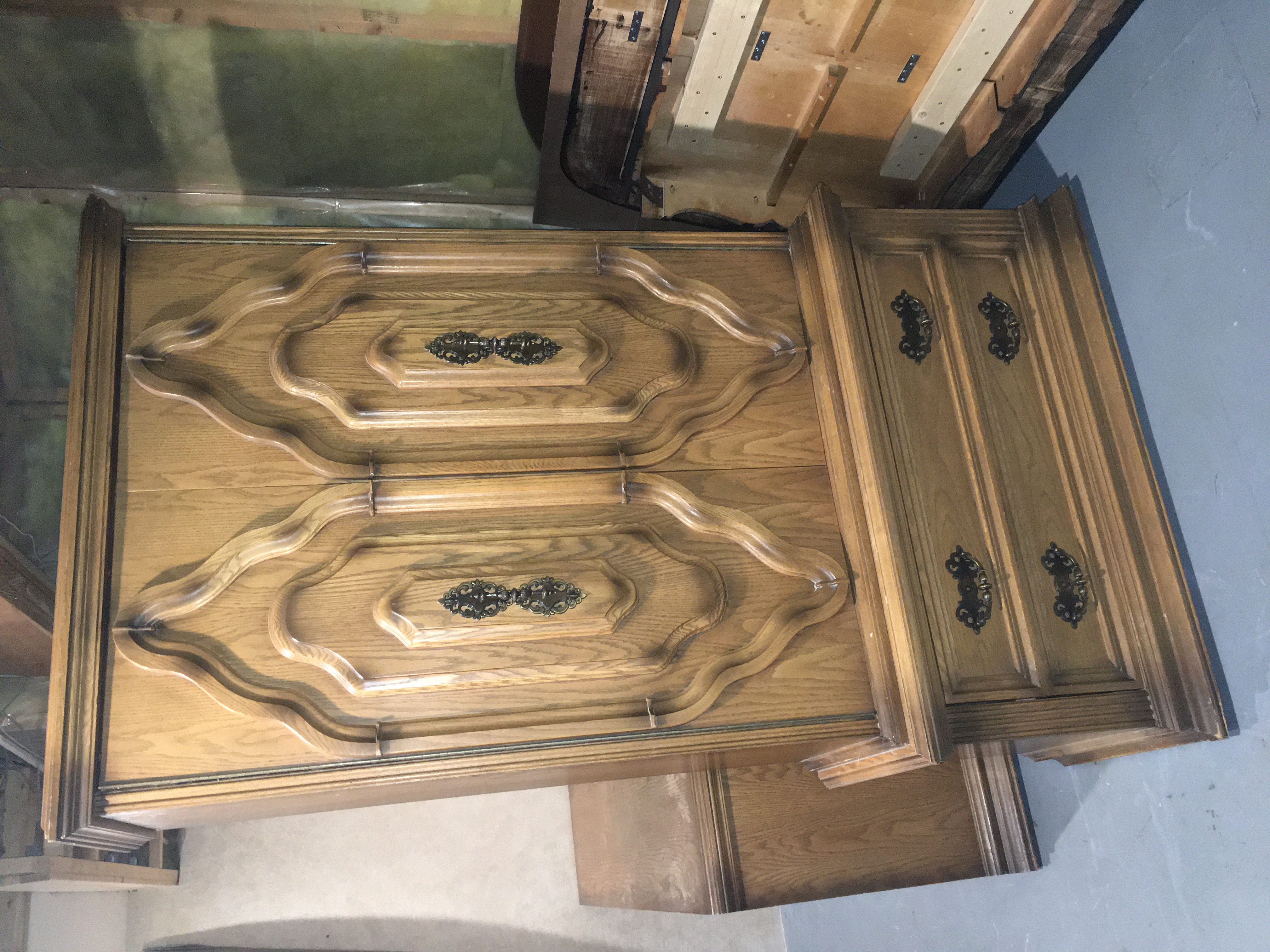 Large 2 Piece Armoire (Stacking)
