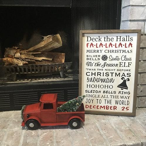 Deck the Halls Farmhouse Sign