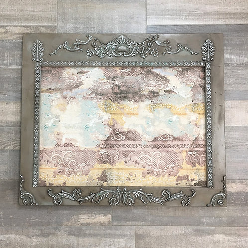 Vintage Lace Print Cork Board