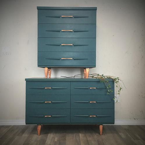 MCM Style Dresser Set