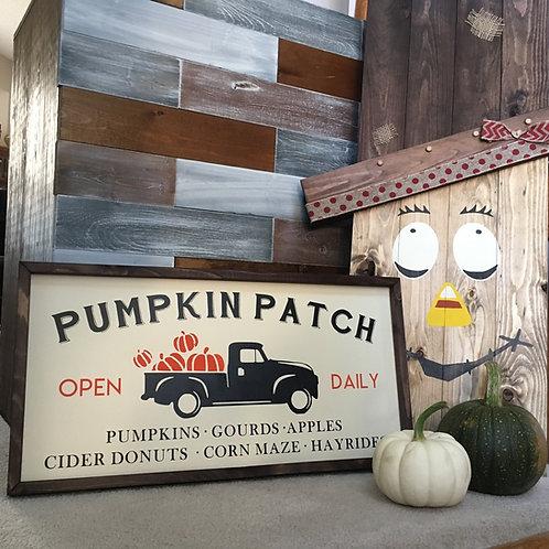 Pumpkin Patch Farmhouse Sign