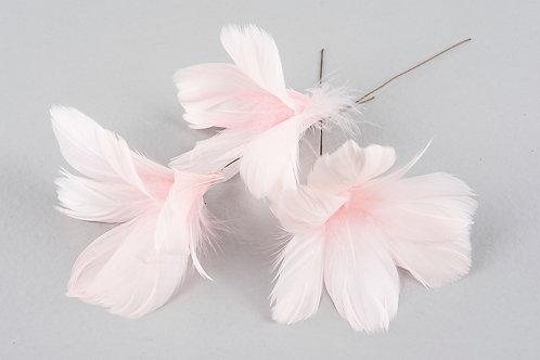 Blomfjädrar ljusrosa 12-pack