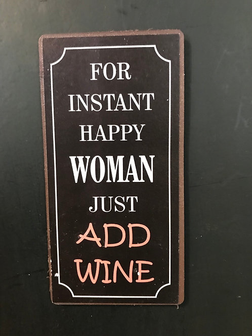Kylskåpsmagnet/For instant Happy woman