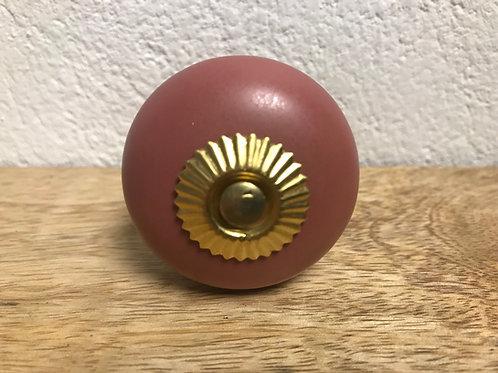 Knopp mörkrosa/guld