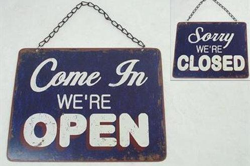 Plåtskylt / Open / Closed