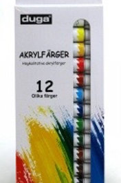 Acrylfärg set 12x12ml