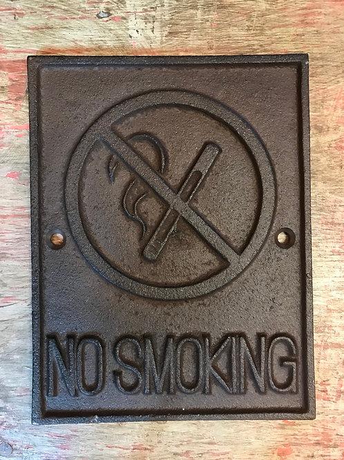 "Skylt ""No Smoking"" Gjutjärn"