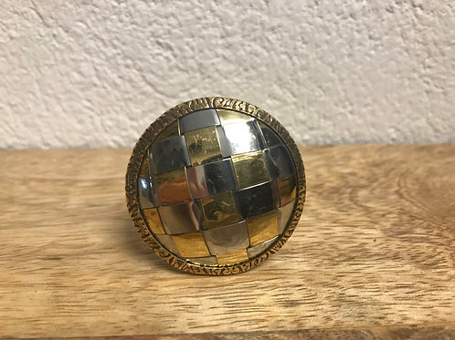 Knopp guld/silver