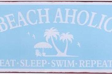 Plåtskylt / BeachAholic