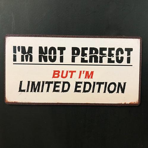 Kylskåpsmagnet/ I'm not perfect