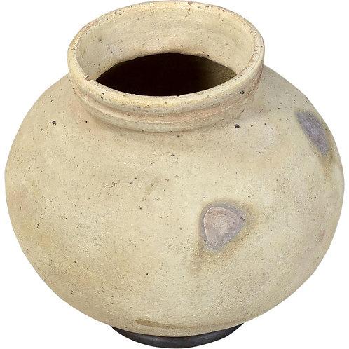 Lerkruka/urna med järnring (L)
