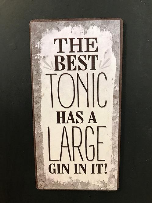 Kylskåpsmagnet/The best tonic
