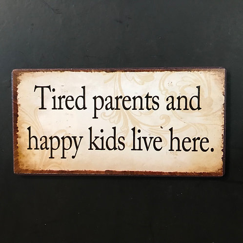 Kylskåpsmagnet/ Tired parents
