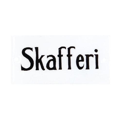 Plåtskylt Skafferi