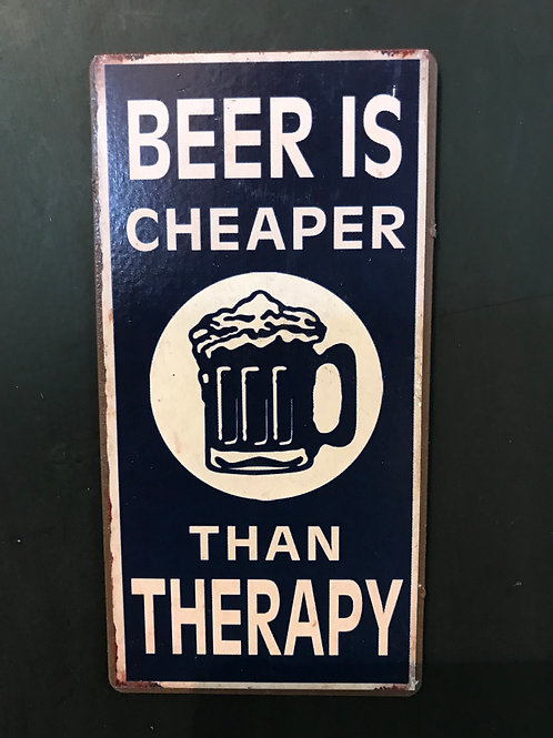 Kylskåpsmagnet/Beer is cheaper than Therapy