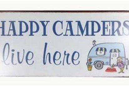 Plåtskylt / Happy Campers
