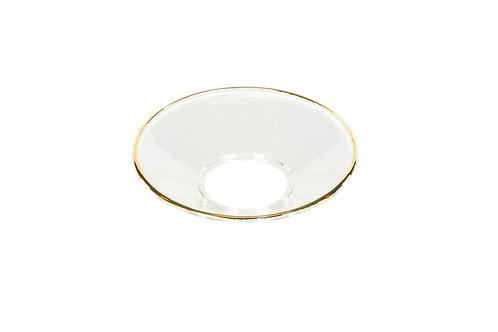 Ljusmanchett glas/guld