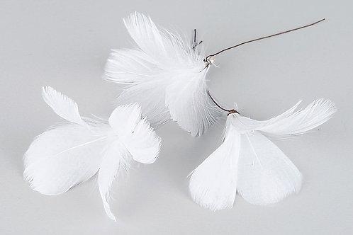Blomfjädrar vit 12-pack