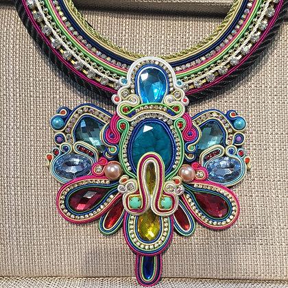 Soutache Necklace 100% Handmade ( Unique Piece)