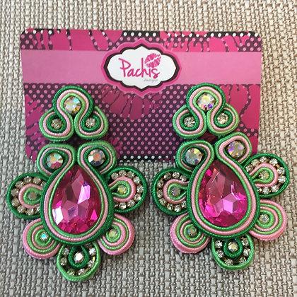 Aaeesha ( Green & Pink )