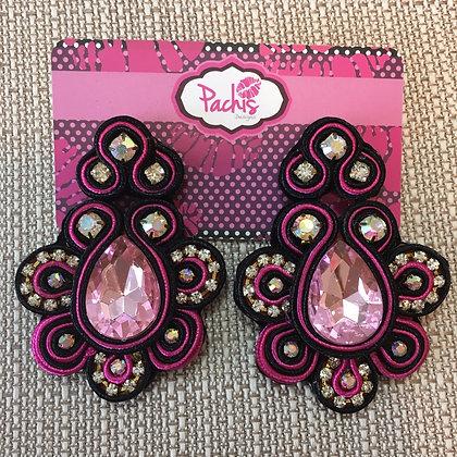 Aaeesha ( Hot Pink & Black )
