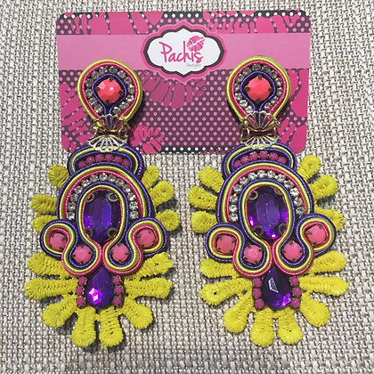 Shamas Yellow Purple & Pink