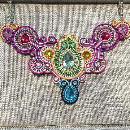 Soutache Necklace 100% Handmade ( Unique Piece)
